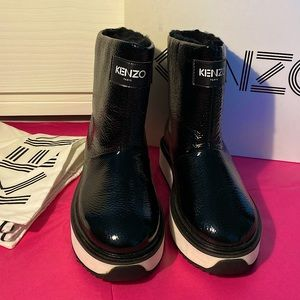 🔥Offers🔥Kenzo snow fur leather black boots 39